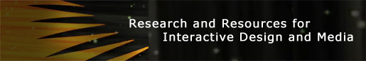 Image with text: Research and resources for Interactive Design and Media