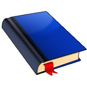 A book with a ribbon in it is used as a symbol of a diary.