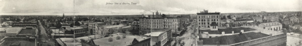 Panorama of downtown Houston from 1910