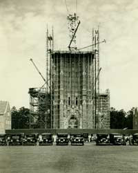 Construction of Duke Chapel, 1931
