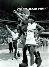 Cheerleaders and Blue Devil, 1980s