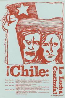 """""""Chile: La Lucha Continua"""" Symposium Poster, undated"""