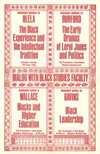 Dialog with Black Studies Faculty Poster, undated