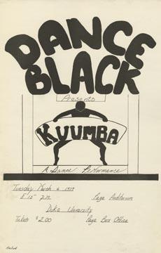 """Kuumba"" Poster, Dance Black, March 6, 1979"