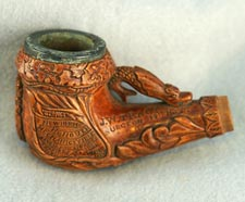 Confederate Wooden Pipe Bowl, undated