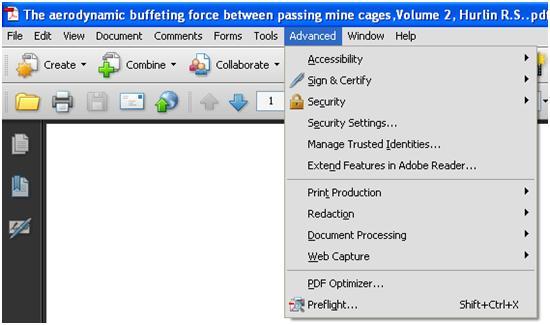 Opening PDF Optimizer