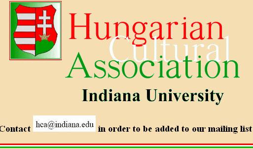 Image states: Hungarian Cultural Association Indiana University
