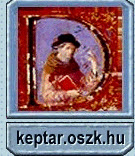 Image of a scribe with the text keptar.oszk.hu at the bottom