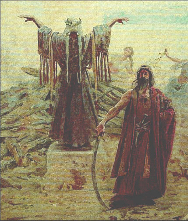 Depiction of ancient Magyars