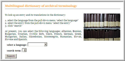Multilingual Archival Dictionary