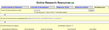 Online Research Resources