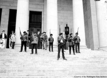Photo: Black Panthers on Steps of Legislative Building