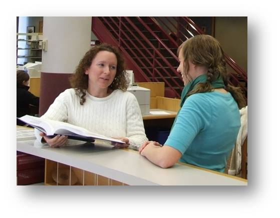 Librarians offer research help!