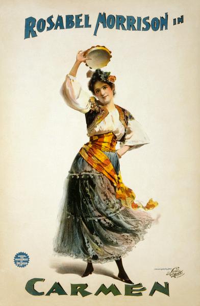 Image of Rosabel Morrison as Bizet's Carmen.