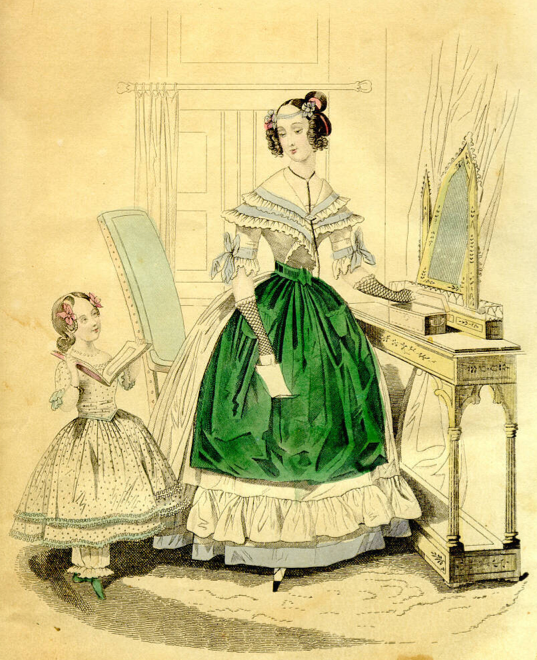 Image of woman in period dress.