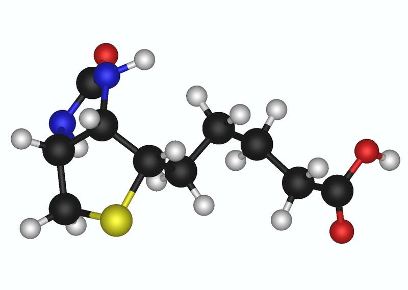 3D model of biotin molecule