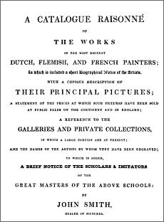 Picture of the cover of a Catalogue Raisonne