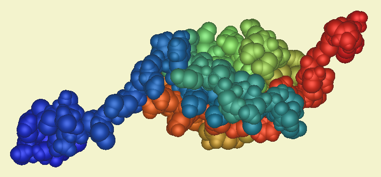 Structure schematic of human SUMO1 protein