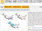 map of voting and elections collection