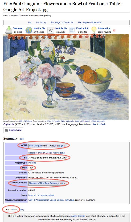Gauguin image metadata
