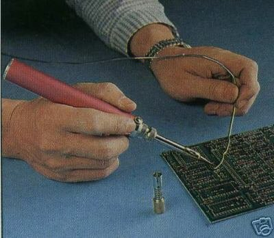 soldering: close-up