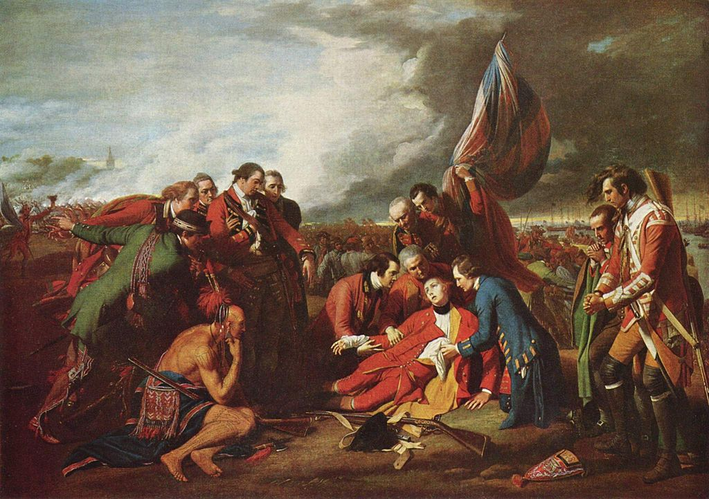 Death of General Wolf on the Plains of Abraham / Benjamin West