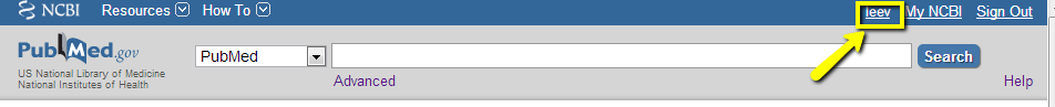 pubmed opening screen