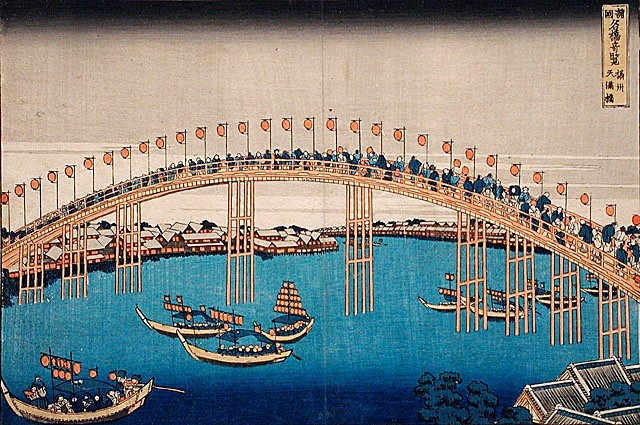 Image of Bridges by Katsushika Hosukai