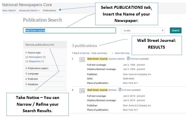 Newspaper Source Core