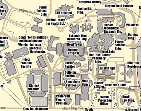 Map of Health Sciences Campus