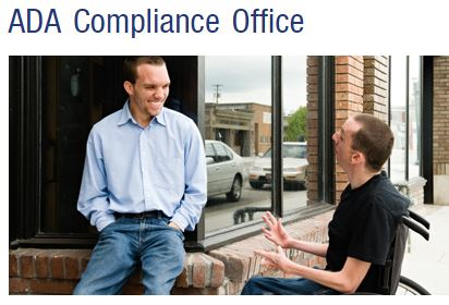 photo from ADA Compliance office of two men talking