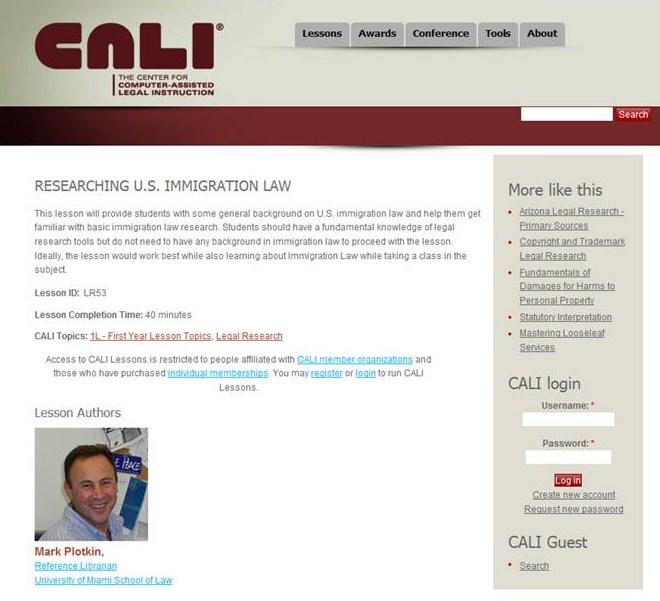 CALI Lesson