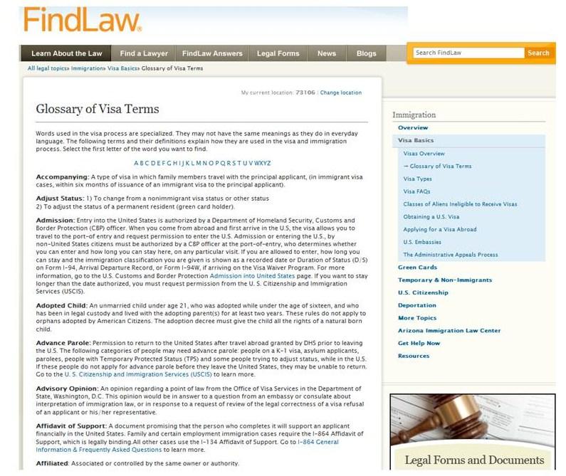 Findlaw Glossary