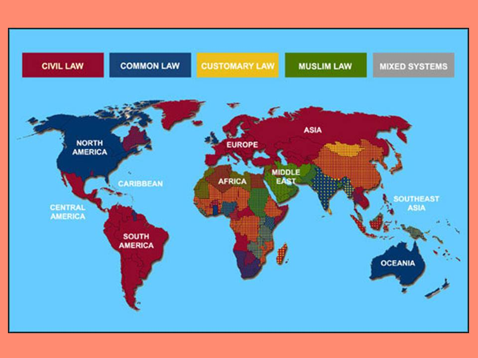 Map of Islamic Legal Systems
