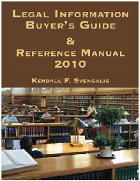 2010 Legal Information Buyer's Guide