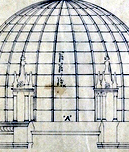 Detail of architecture drawing