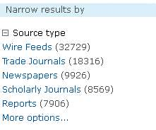 narrow search results by