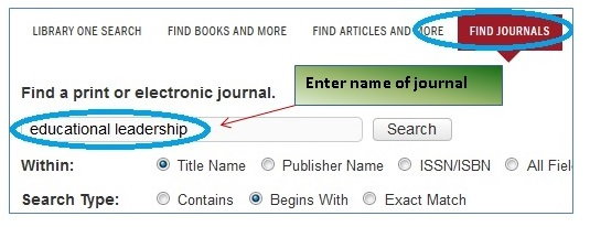 find journals 1