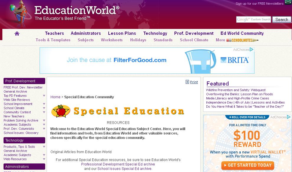 Education World: Special Education Community