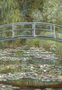 Claude Monet's painting: Bridge Over a Pool of Water Lilies