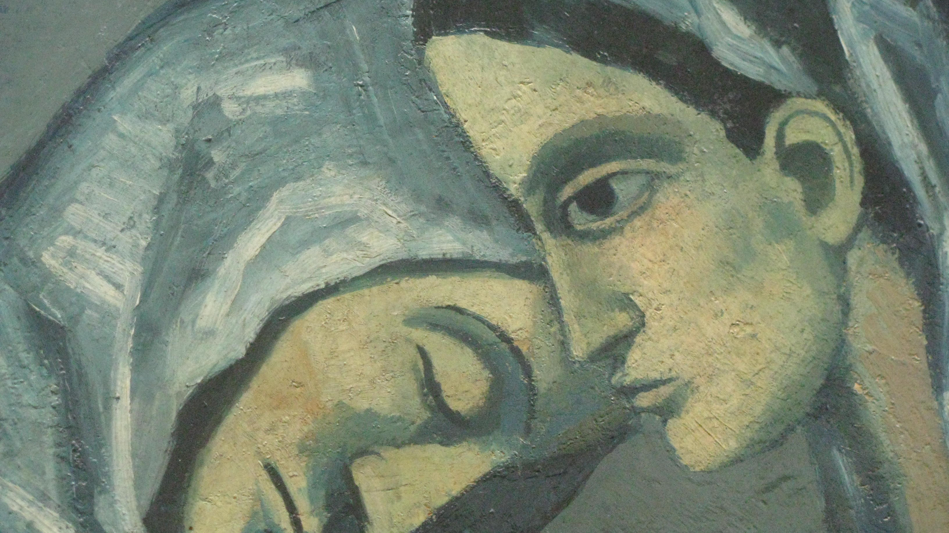 """Two Sisters,"" detail, Picasso, 1902, Hermitage, St. Petersburg"