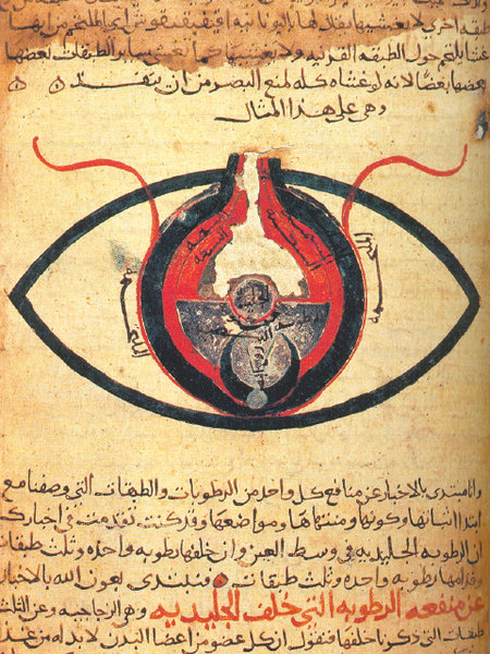 The eye according to Hunain ibn Ishaq.