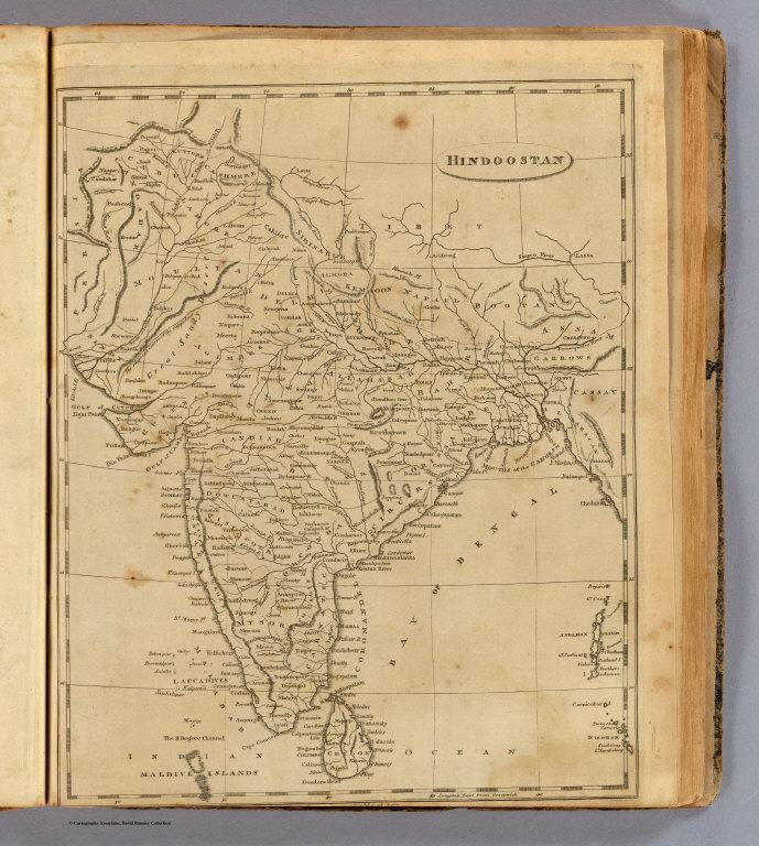 Hindoostan, 1812 map