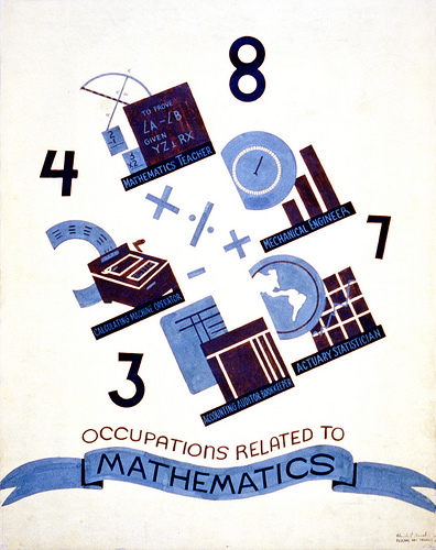 image of Occupations related to mathematics poster