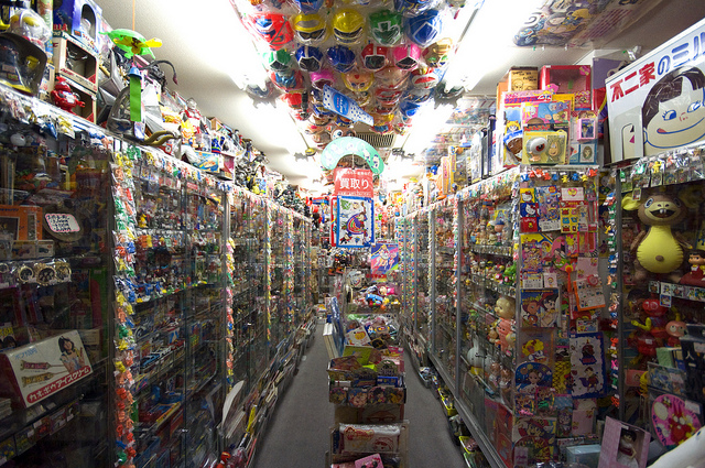 photograph of the inside of a toy store