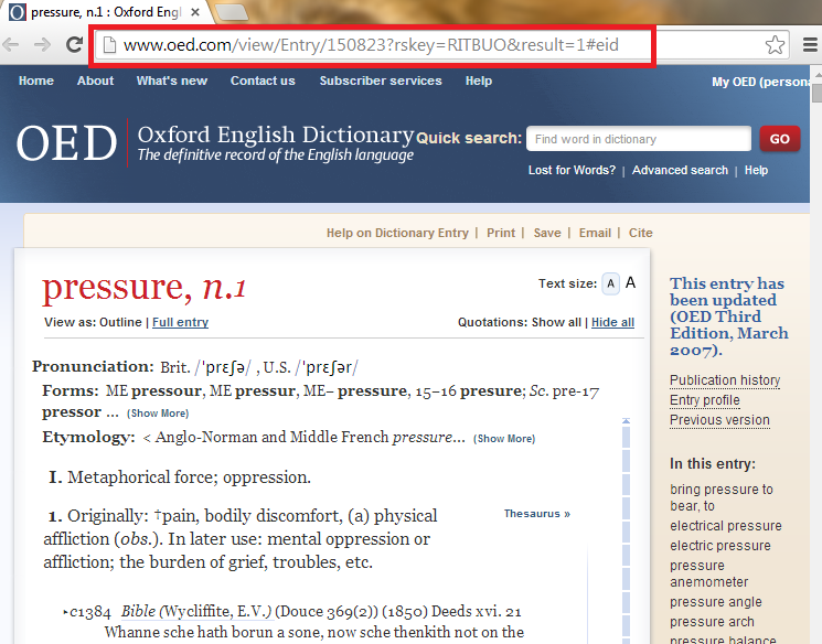 persistent link to Oxford English Dictionary entry