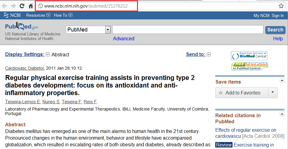 PubMed persistent link