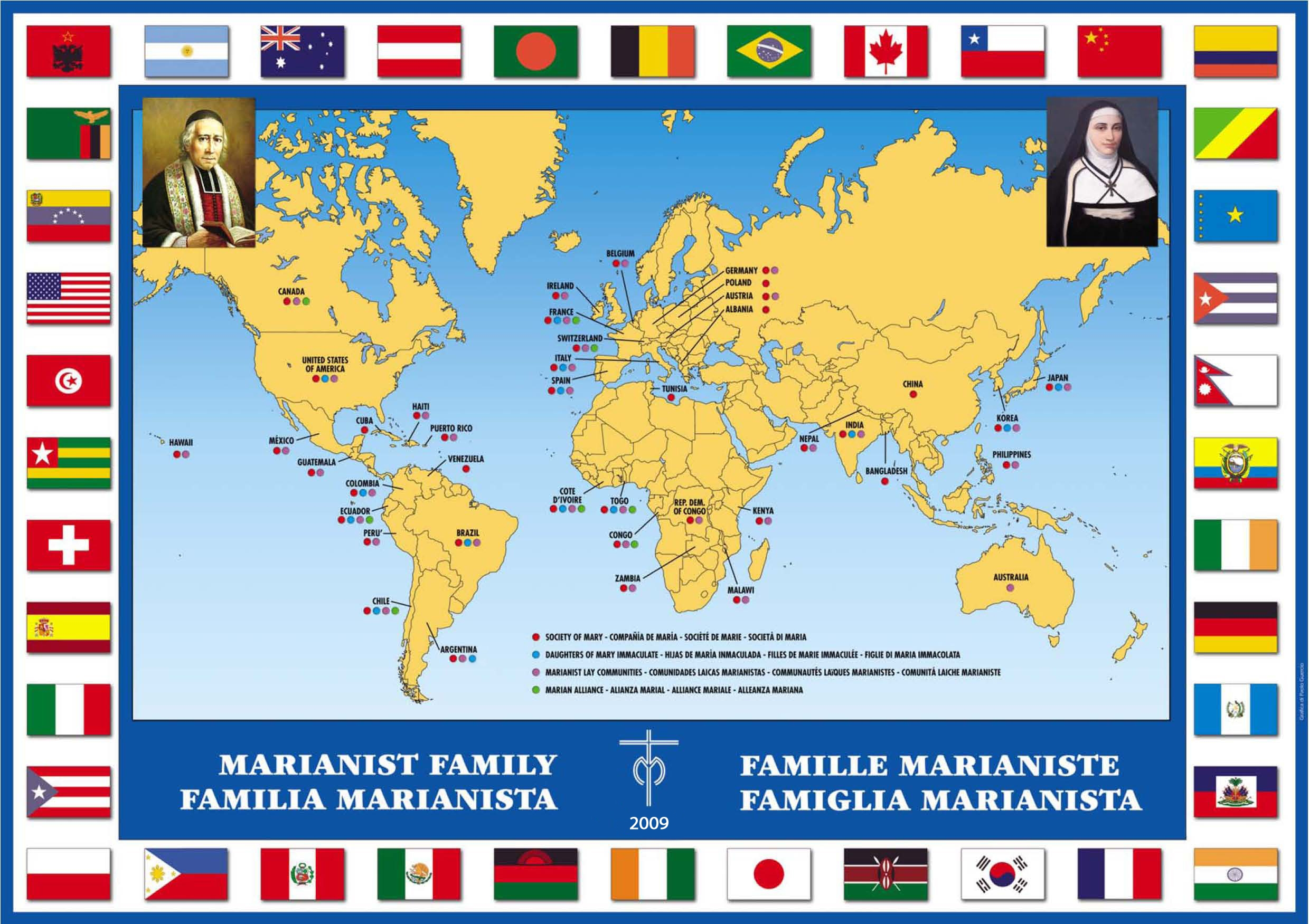 Marianist Family World Map