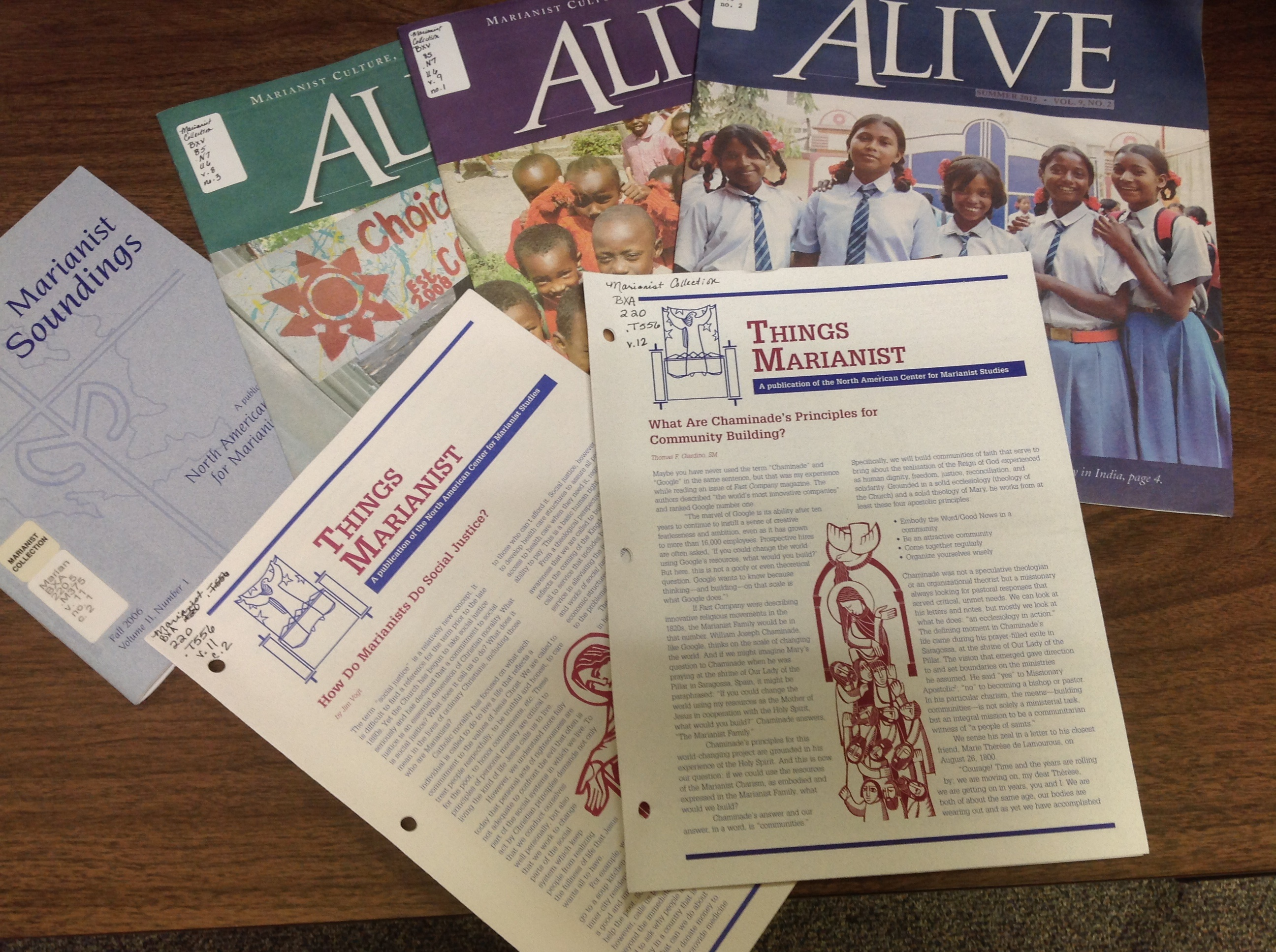Marianist magazines
