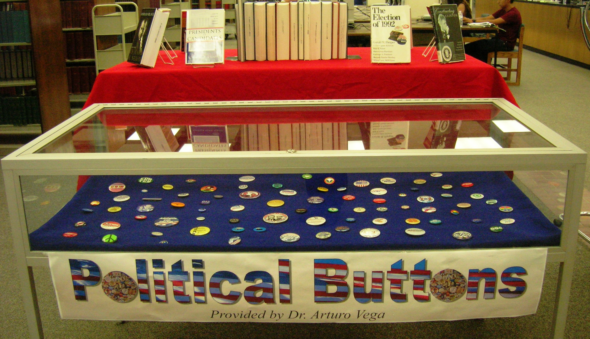 Political Buttons & Books